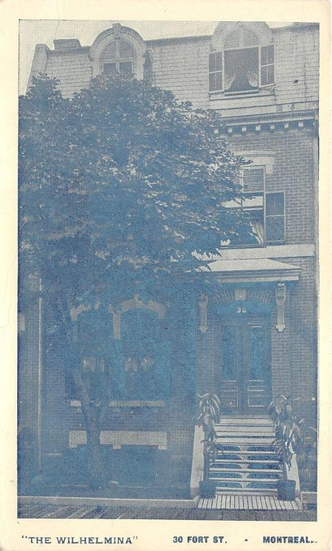 Montreal Quebec~The Wilhelmina @ 30 Fort Street~Vintage Private Post Card