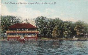 NEWBURGH, New York, PU-1909; Boat House And Pavillion, Orange Lake