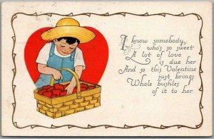 1927 VALENTINE'S DAY Postcard I Know Somebody's Who So Sweet.. Carrington