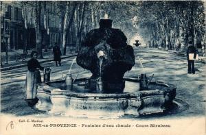 CPA AIX-en-PROVENCE Fontaine d'eau chaude-Cours Mirabeau (339934)