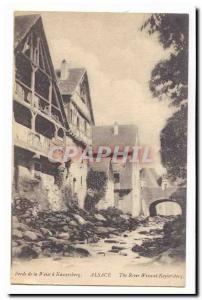 Old Postcard Banks of the Weiss Kaysersberg