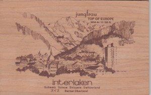 Interlaken , Switzerland , 40-60s ; Jungfrau