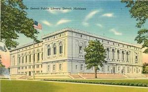 MI, Detroit, Michigan, Detroit Public Library, Tichnor 65801