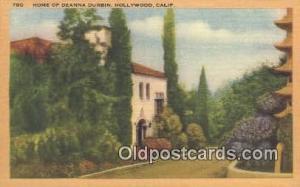 Deanna Durbin, Hollywood CA, USA Movie Star, Actor / Actress, Post Card Postc...