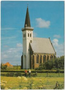 Groeten van Texel, Den Hoorn, Ned. Herv. Kerk, 1984 used Postcard