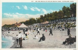 CLEVELAND, Ohio, 1910s; On the Beach at Euclid Beach Park