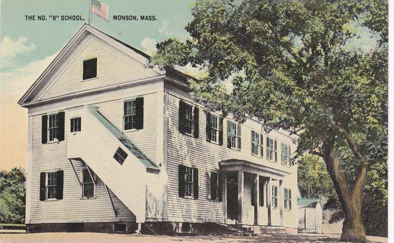MONSON, Massachusetts, 1900-10s; The No. 8 School