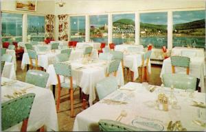 Baker H Motel Gaspe Quebec QC Interior Vintage Postcard D41
