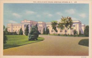 New York Saratoga Springs The Lincoln Bath House 1948 Curteich