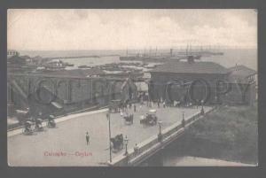 106214 Colombo Ceylon pier & port Vintage PC