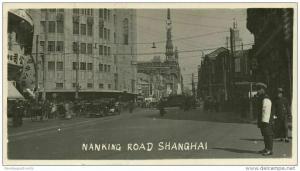 china, SHANGHAI, Nanking Road, Cars (1920s) Real Photo