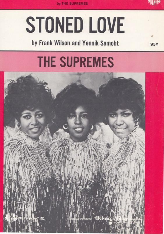 The Supremes Stoned Love of Tamla Motown 45 Rare XL Sheet Music
