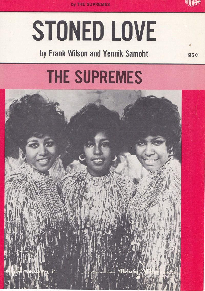 The Supremes Stoned Love of Tamla Motown 45 Rare XL Sheet Music /  HipPostcard