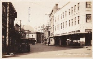 Alaska Juneau Front Street Real Photo 1948 sk923