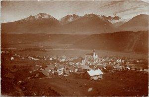 Zirl gegen die Kalkkogel Austria Karl Redlich c1915 Real Photo Postcard G18