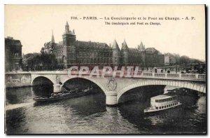 Postcard Old Paris La Conciergerie and Pont au Change