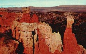 Bryce Canyon Nat'l Park, UT, Aqua Canyon, Chrome Vintage Postcard g9230