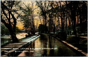 1910s Wilmington, Delaware Postcard North Race, S.E. from Franklin Street