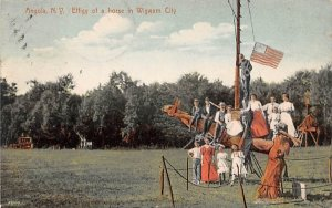 Effigy of a Horse in Wigman City Angola, New York Postcard