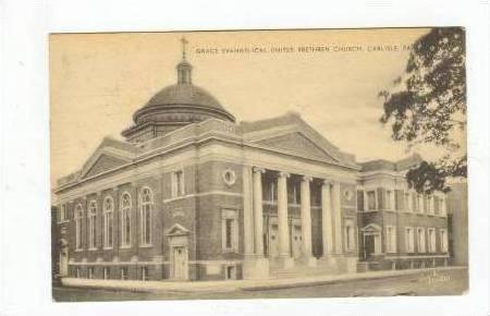 Grace Evangelical United Brethren Church, Carlisle, Pennsylvania, PU-1954