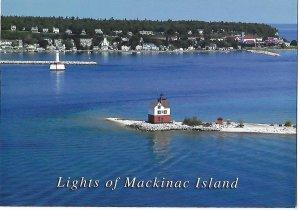 Restored Round Island Lighthouse  Mackinac Island Michigan  4 by 6