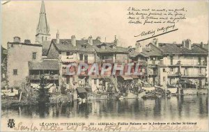 Old Postcard Aurillac Cantal Picturesque Old Houses on the Jordanne and Steep...