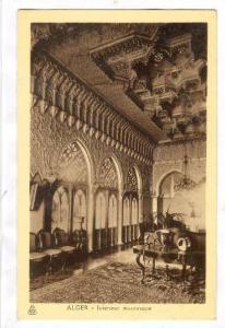 ALGER - Interieur mauresque , Algeria, 1910-30s