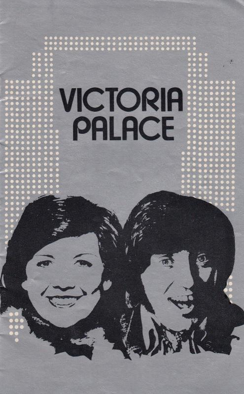Cilla Black and Jimmy Tarbuck London Victoria Palace 1970s Theatre Programme