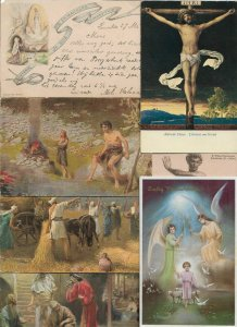 Beautiful Religion Postcard Lot of 20 With Jesus and More from the Bible 01.16