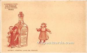Advertising Postcard - Old Vintage Antique Paris Ed Pinaud