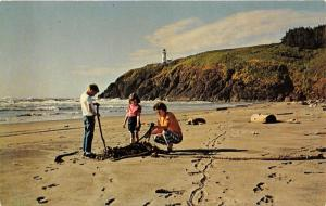 Fort Canby State Park-Ilwaco Washington~North Head Lighthouse~Lady/Kids by Kelp