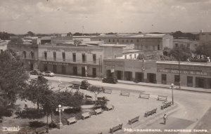 RP: Panorama, Town Square, Matamoras Tamps. Mexico , 1930s