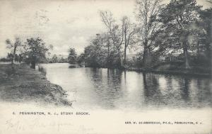 Stony Brook, Pennington, New Jersey, Early Postcard, Used in 1906