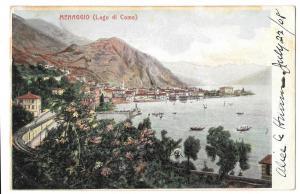 Italy Menaggio Lago di Como Lake Como Vintage Postcard