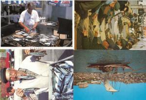 Algarve Sardine Cooking Pepsi Cola Umbrella Net Repair 4x Portugal Postcard s