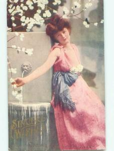 Divided-Back PRETTY WOMAN Risque Interest Postcard AA8050