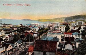 Astoria Oregon Birdseye View Of City Antique Postcard K77413