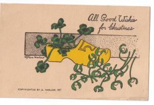 Christmas Grace Harlow Arts &Crafts Era Shamrocks Mistletoe