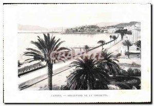 Postcard Old Cannes Croisette boulevard