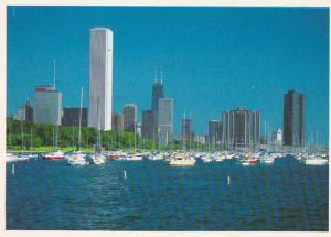 Illinois Chicago Skyline From Lake Michigan