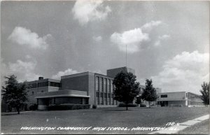 Washington Community High School Washington Illinois RPPC