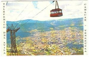 Vista panoramica de Caracas desde el Teleferico del Avila, Venezuela, PU-1972