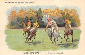 Les spofrts, Polo a Cheval Polo Tradecard Advertising on back side Unused