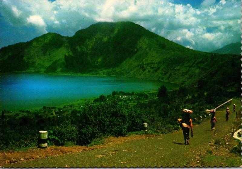 Indonesia Bali Scene Showing Batur Lake
