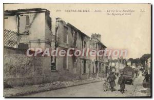 Old Postcard The Senlis Rue De la Republique