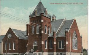 PORT ARTHUR , Ontario , 1900-10s ; First Baptist Church