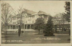 Deer Park MD Hotel West Wing 1908 Westernport MD Cancel Real Photo Postcard