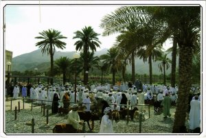PC CPA SULTANATE OF OMAN, GOAT AUCTION, REAL PHOTO POSTCARD (b16349)