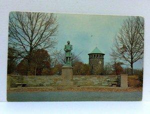 Wilmington Delaware Rockford Park Admiral Du Pont Monument Postcard