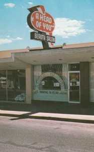 LAS VEGAS , Nevada , 1950-60s ; A Head of You Beauty Salon, Freemont St.